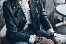 black leather (jackets)