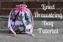 Drawstring bags / by Bags to Make