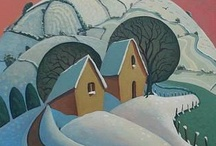 Winter Landscapes  / Winter landscapes - Art and paintings as seen through the eyes of British artists at the #redraggallery.