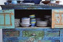B L U E.......................................blue home decor / All things blue.
