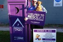 Domestic Violence Stinks / October is domestic violence month.  RESOLVE is using symbolic outhouses to raise awareness and funds to stop DV.