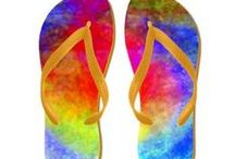 Flip Flops & Shoes / Here are Flip Flops &  High Top ZIPZ® shoes (Unisex sizing: 4-13 Men's | 6-15 Women's) decorated with my art images