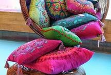 Pillow Talk / THROW THEM AROUND, MIX AND MATCH, ADD HUMOR AND VIBRANCY TO YOUR ROOM  / by Valentina Interiors & Designs