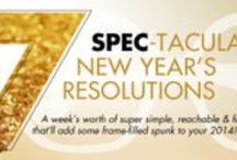 Seven Spec-tacular New Year's Resolutions  / For a full week, we'll be offering up one super simple, reachable and fun New Year's resolution per day. And of course, each goal incorporates eyewear! So push yourself to give 'em a go—they're sure to add some frame-filled spunk to your 2014! Get the deets: http://eyecessorizeblog.com/?p=5431 / by Eyecessorize