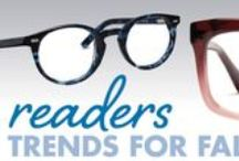 Fall '14 Readers Trends for All Sorts of Styles / Simultaneously bid farewell to squint and say hello to style with fall's spankin' new stash of reading glasses! Let's face it—nobody digs struggling to see the teeny tiny font that's sprawled across everything from books to newspapers to magazines. But lucky for you, there are lots of fabulous readers and sun readers (if you frequent the great outdoors) that'll have you seeing clearly, not to mention lookin' on trend no matter what lifestyle you lead.  / by Eyecessorize