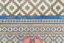 Floors & tiles / Floored by floors and my exercise in mindfulness, observing the little details.