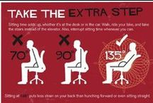 Exercise for desk workers! / Tips for staying fit while working from home / by Worldwide101 Virtual Assistants
