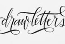 lettering & calligraphy / beautiful calligraphy, typography, hand script + word design.