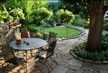 Hardscape Inspirations / Using stone, rock, wood, metal and cement to enhance you outdoor living areas.