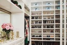 closet / organisation inspiration for all my clothes shoes and bags!