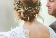 floral crowns / Floral crowns and hair accessory ideas for brides and bridesmaids!