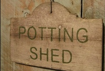 Potting Sheds, greenhouses and gardening benches! / A place to take solitude while transplanting your seedlings and re-pot your faithful friends.