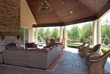 Perrino Patio, Pool and Backyard Design / Exterior Living Spaces Built, Designed and Furnished by Perrino Builders & Remodeling and Perrino Furniture