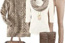 Shades of Neutral / Neutral shades - beige, brown, cream, black, white, gray.....