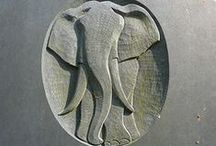 Elephant statues and sculptures / by Michelle Richter