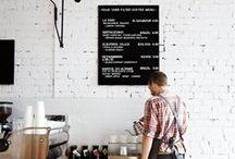 Cafes / Food, design ideas, branding, inspiration, menu, breakfast, black board
