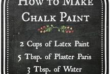 CRAFTS-CHALKBOARD PAINT IDEAS / by Mary Gatto