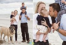 Family Portraits at the beach! / Get inspired for your own beach portrait session, or just admire the lovely light and loving families captured here!