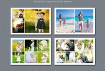 My Digital Templates / Layered PSD Digital Photo Collage Templates, to be used with Photoshop, for sale in my Etsy Store.