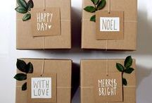 simple holidays / inspiration + ideas for simple holidays // diy cards, brown paper gift-wrapping, small space decor, stress-free hosting / by Trina Cress