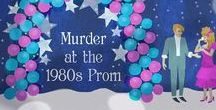 Murder at the 1980s Prom Mystery Party! / Tips, ideas and inspiration for throwing Murder at the 1980s Prom mystery party investigation game from Shot In The Dark Mysteries!  http://www.shotinthedarkmysteries.com
