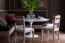 Obsessed..Banquettes. Benches. Sofas.. / all manner of dining nooks...breakfast, formal, informal, cozy, etc. / by Karyn Armour