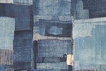 Indigo. Shibori. Boro. / a rather loose interpretation of 'indigo'...but all images I love..and lots of shibori (indigo shibori) and boro thrown in..!  / by Karyn Armour