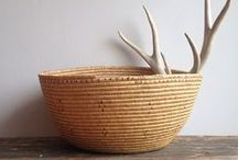 Woven vessels/ Woven bags.... / Wicker, plastic, grasses....etc.  Mostly woven. Some bark baskets, etc. / by Karyn Armour