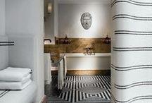 black & white floors / by Karyn Armour