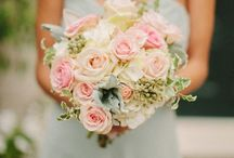 My Wedding - Bouquet / Pale pink White Greenery Feminine  / by Erika Kimmich