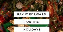 Pay It Forward / For the holiday season we gave our amazing bloggers $50 to donate towards a charity of their choosing to help spread the giving and pay the goodness forward. How are you paying it forward this year?