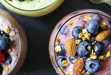 Smoothies + Shakes / A collection of drinks, juices, smoothies, and detox waters that are healthy and slimming.