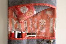 Pincushion, scissor case & needle case