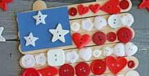 Patriotic Crafts and Activities / Fourth of July, Memorial Day, Presidents' Day and Veterans Day party ideas, food and kid crafts.