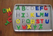 ABC Games / Creative alphabet games for kids. Fun ways to teach kids the names and sounds of upper and lowercase letters. / by Malia // Playdough to Plato