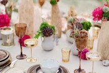 Creative Place Settings & Centerpieces / Centros / Las Mesas / by Bodastory Weddings Bodas