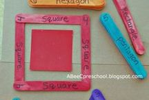 Shape Games / Engaging shape games, activities and free printables.