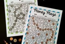 Money Games / Hands-on money games for kids. Fun ways to teach kids coin values, coin characteristics, money management and more.
