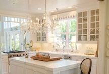 Dream Kitchen Ideas / Dream kitchen, kitchen inspiration, kitchen ideas for my dream kitchen with bright white cabinets and beautiful coutertops of white or at least another light shade of beauty for me to cook in!