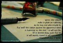 write the vision #anydaynow / write the vision; make it plain on tablets, so he may run who reads it.  For still the vision awaits an appointed time; it hastens to the end - it will not lie.  If it seems slow, wait for it; it will surely come; it will not delay. ~ Habakkuk 2:2-3 #anydaynow #claimingit #evenme #myblessings #Hispromises / by G