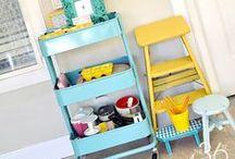 crafty-room. / by Dominique Giovando