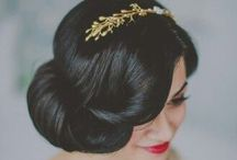 Vintage inspired hair and makeup for weddings
