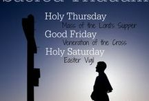 Holy Week/Easter Triduum Resources & Crafts for Classrooms & Families / Catholic resources and learning activities about the Palm Sunday and the Three Days: Holy Thursday, Good Friday, and the Easter Vigil.