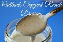 Salads & Salad Dressings / Collection of  healthy and tasty salads & salad dressings
