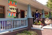 Saluda, NC / Random Arts & Apparel located at the corner of Ozone & Louisiana just 1 mile from I-26.