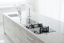 Invisible line / Large size continuous worktops without any visible joints.