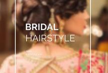 Bridal Hairstyle / • weddingnet • wedding • india • indian • indian wedding • weddingdresses • mehendi • details • sweet • cute • gorgeous • fabulous •stylist • hairstyle • eyes • lips • muah • makeup • bridalmakeup • makeup for brown eyes • brown • idea • • inspiration • trendy • jewels • hairstyle •