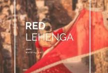 Red Lehenga / Red is the most popular indian wedding color! The biggest collection of inspiration in red.  • weddingnet • wedding • india • indian • indian wedding • weddingdresses