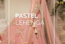 Pastel Lehenga / Brides in gentle pastel lehenga! The biggest collection of inspiration in pastel. • weddingnet • wedding • india • indian • indian wedding • weddingdresses • pastel •