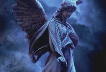 Stone-Faced Angels / I've always found there's something ethereal and mystical about angel statues. Calming and thought-provoking at the same time.